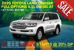 Toyota Land Cruiser Full Options Japan Automatic 2020